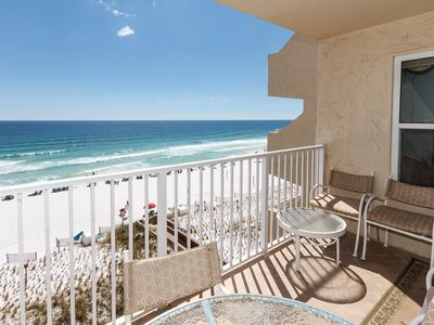 Photo for Look at the view-Beach/Gulf Front-Our Place is Open