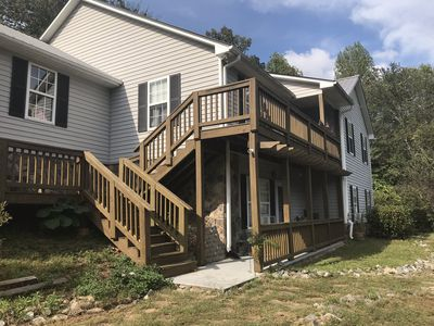 Photo for Dahlonega Mountain Apt #1  Four Rooms with Queen & Double Beds 1 - 4 persons