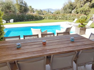Photo for Magnificent Villa with sea view, 4 min walk from the town center and the beach