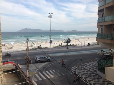 Photo for Apartment 30 meters from Praia do Forte - With view of the Beach