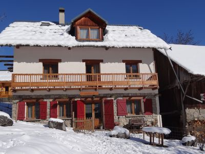 Photo for Luxury and spacious winter sports Villa (10-12 people) 5 bathrooms! Le Corbier / Les Sybell