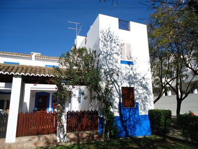 Photo for 3 bedroomed, 2 bathroomed villa on development with large pool walking to beach