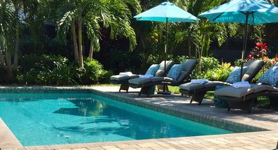 Photo for Luxurious Home And Tropical Garden with Private Pool minutes to Palm Beach