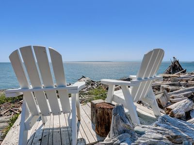 Photo for Whidbey Island Beach Cottage, ON THE BEACH at Admiralty Inlet! Sunset Views!