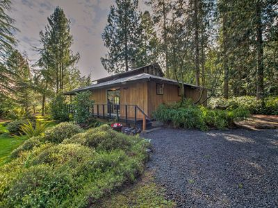 Photo for Tranquil Sequim Bay Garden-View Cabin w/Large Deck