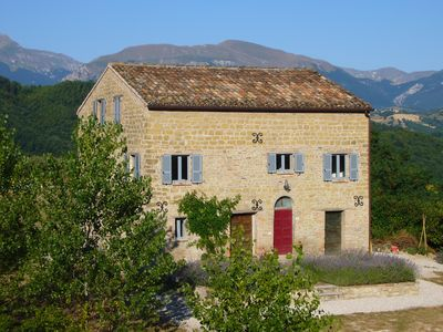 Photo for Beautiful Stone Farmhouse In Rural Location With Private Pool & mountain views