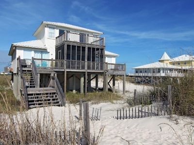 Photo for Beautiful 4 Bedroom Gulf Front Private Beach Home. All 4 bedrooms have their own private entrance to the beautiful decks that overlook the Gulf of Mexico.