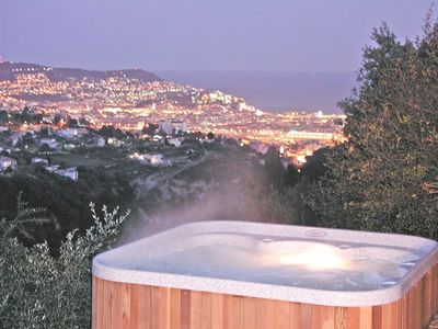 Photo for Luxury villa panoramic view over sea and centre of Nice - Heated pool - spa
