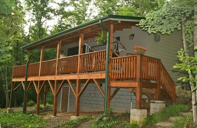 Your deck faces the woods. No other houses in view.