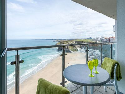 "Photo for Stunning cliff top apartment with breathtaking ""WOW"" sea views overlooking beach"