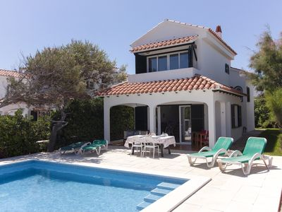 Photo for 3 Bedroom Villa, private pool,  stunning Sea Views 5 mins from beach. WIFI & AC