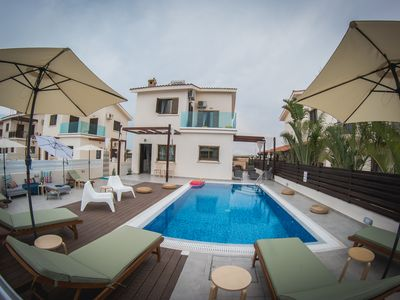 Photo for Villa Elena (Private pool, 30 meters from beach,Near Nissi Beach)
