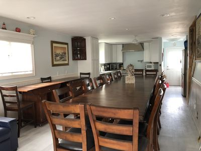 table seats 12-20+,buffet for more seating & mini bar storage, great for arties