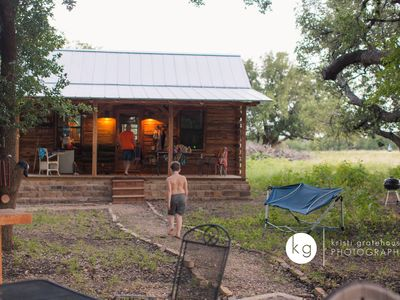 Secluded cabin on a private ranch 20 mins to Colorado Bend State Park now open!
