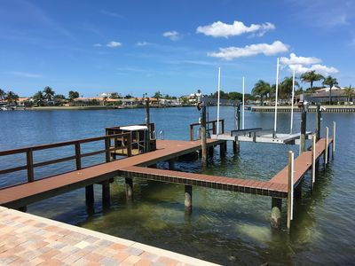 Photo for Waterfront Beach House W/ Pool & Boat Lift - 3 Bed, 3 Bath, 2 Car Garage