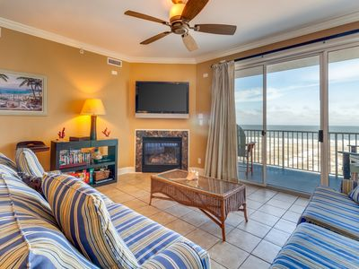 Photo for Luxury, oceanfront condo w/ fireplace, shared rooftop pool, & fitness room