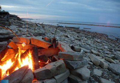 Fire pit and at shore level