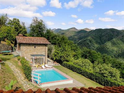Photo for Stunning mountain views, peaceful setting, short drive to Lucca. Chef service!