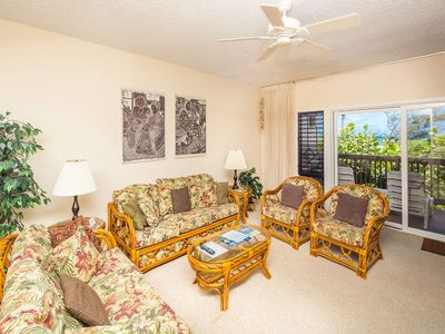Photo for See the Surf! Casual Suite w/Lanai, Full Kitchen, Ceiling Fans, WiFi–Kaha Lani 222