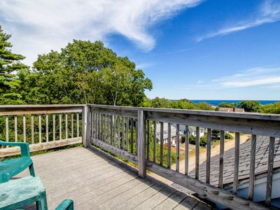 Photo for Oceanview home with a roof terrace and deck, just a short walk to the beach!