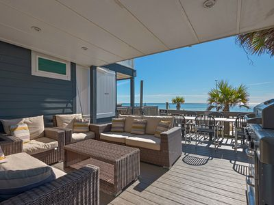 Photo for BeachFront for 8! Updated! ☀ Huge Gulf Front Deck + Balcony ☀ 2BR Klaus House #1