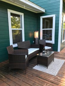EXTRA SEATING ON THE SECOND DECK OFF THE MASTER BEDROOM.