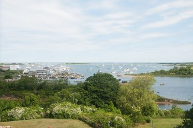 Our view from atop the hill looking over New Harbor