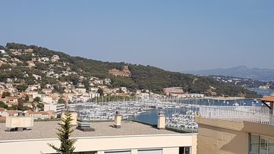 Photo for Superb view of the harbor, residence with swimming pool