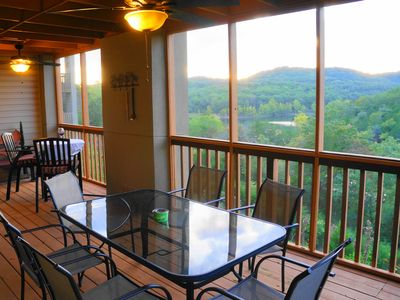 Photo for Awesome Lake Views from the deck! Right Next to Silver Dollar City!