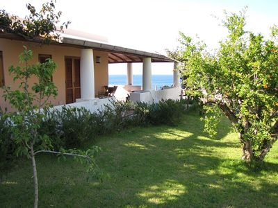Photo for Aeolian style villa by the sea with terraces and splendid view -Lipara