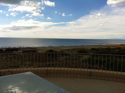 Photo for large terrace overlooking the sea and the sand dunes
