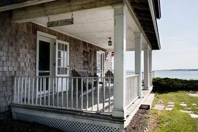 Bayside Cottage — covered porch