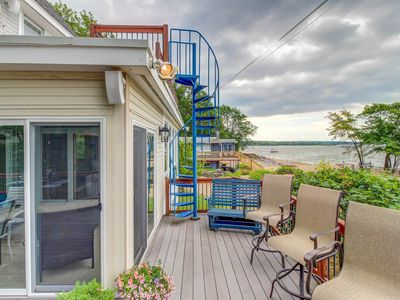 Photo for Lakefront home w/ water access, views of the mountains, private deck & patio