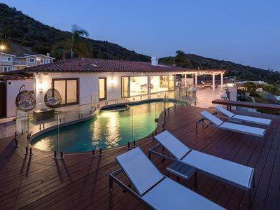 Photo for Stunning Hilltop Villa with Panoramic Ocean Views, Pool & Playground