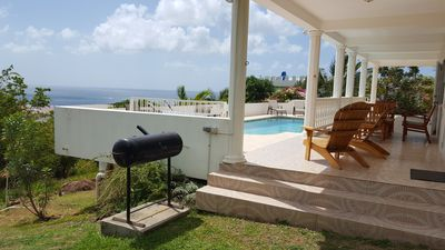 Great Atlantic view  from  poolside and main floor balcony