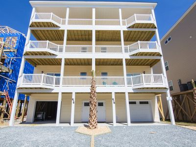 Photo for Brand New!  5 bedrooms, 4.5 bathrooms, Ocean views, Pool, and elevator in North Topsail Beach