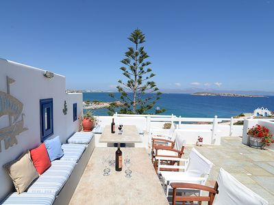 Photo for ARIES Beachfront Villa Paros 5br upto 11guests