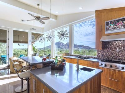 Photo for Modern Paradise Valley Scottsdale with breathtaking city and Camelback views