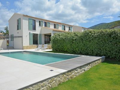 Photo for Superb villa with heated private pool in domain within walking distance village