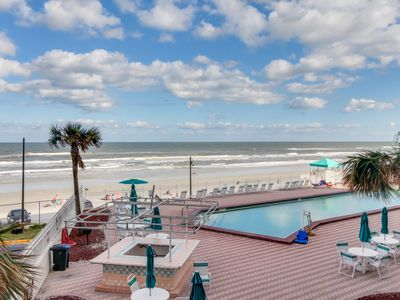 Photo for Beachfront condo w/ balcony & ocean view plus shared pool, hot tub, & game room