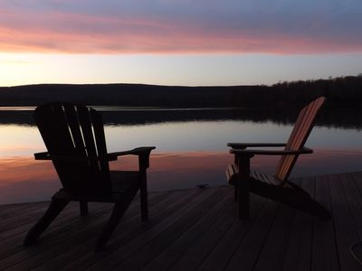 Photo for LAKEFRONT! Pontoon boat,hottub, billiards,fire pit/place, private family retreat