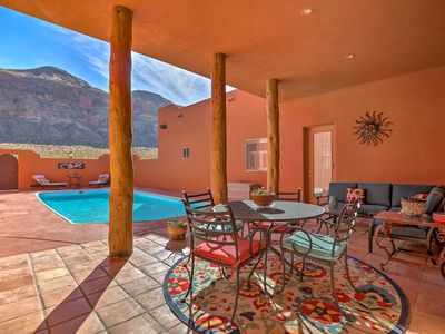 Photo for 'Pueblo House' w/Pool in Shadows of Zion Natl Park