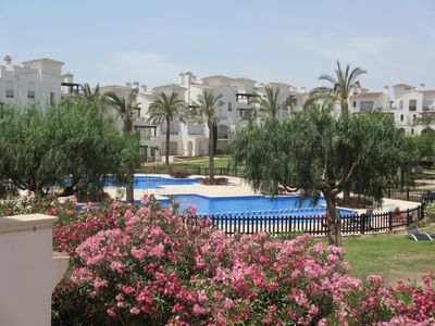 Photo for Spacious luxury apartment for rent at La Torre Golf, Roldan, Murcia.