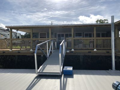 Photo for NO STAIRS... dock is steps away on main deep water canal in Keaton Beach !