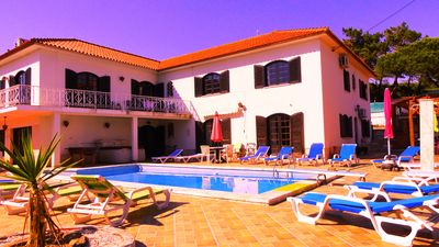 Photo for House with heated pool by the beach, Colares, 12 adults