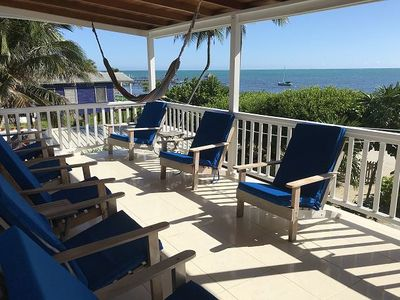 Beach Front, shared dock with our other guests, private pool, close to town