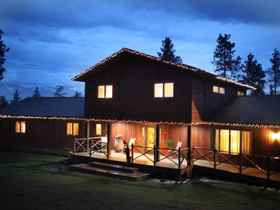Photo for 5+ Bedrooms, Heated Indoor Pool, Sauna; additional Lake Cabin option