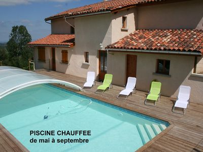 Photo for Gite with heated pool from late April to late September in Auvergne-Rhône-Alpes