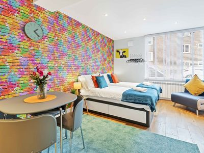 Photo for Rainbow Studio - Spacious City Centre - close to sea - sleeps 1 to 3 guests