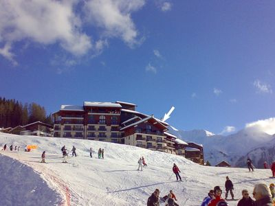 Photo for Family skiing apartment in the heart of Paradiski, Les Arcs, French Alps